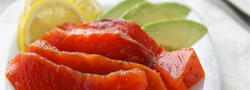 Lime Dill Salmon Gravlox with a side of Coconut Yogurt